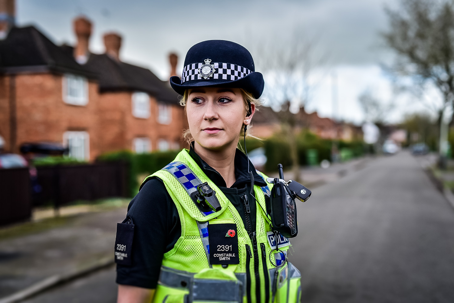 Press picture Gloucestershire Police constable in Cheltenham