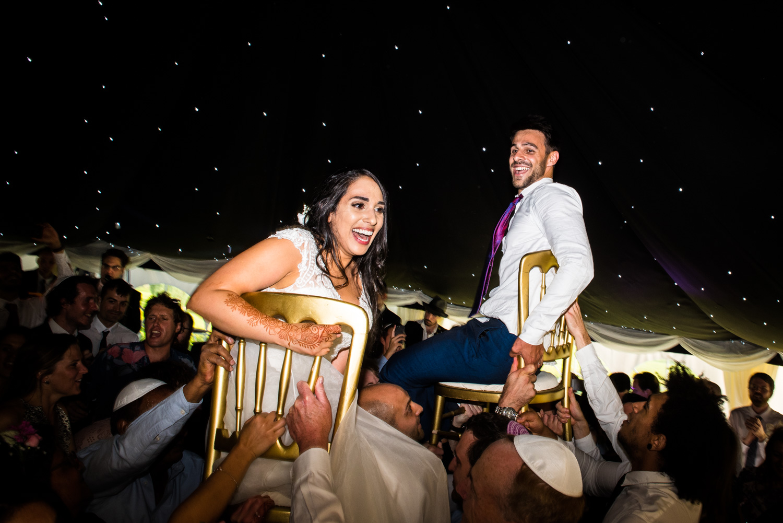 Crazy Jewish wedding celebration in Brighton