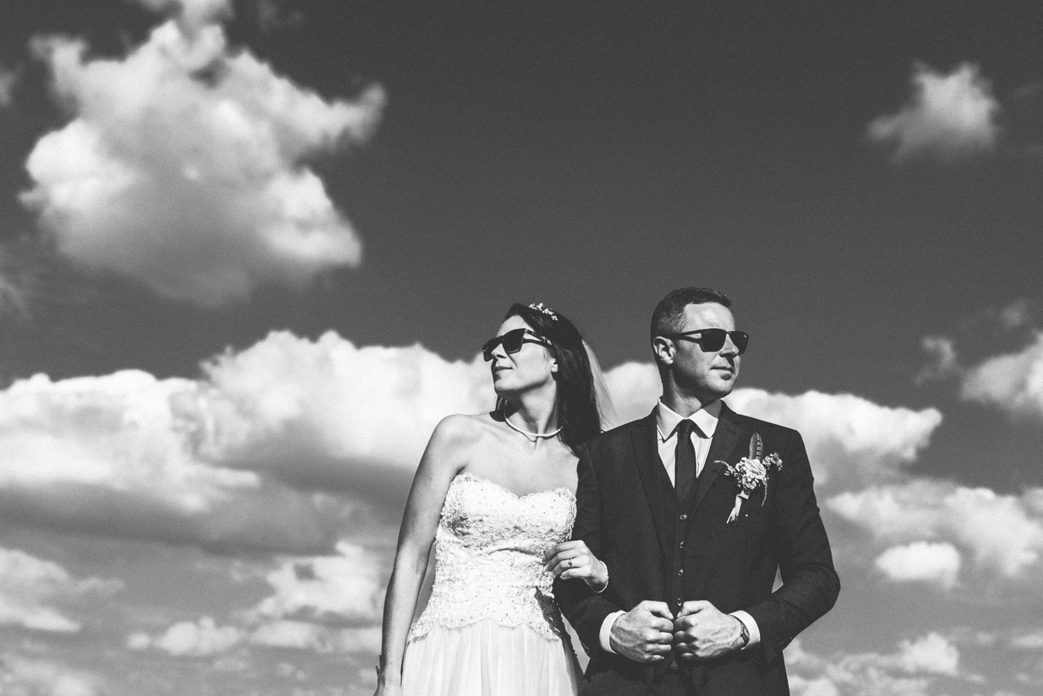 monochrome image contemporary wedding Newport Pagnell