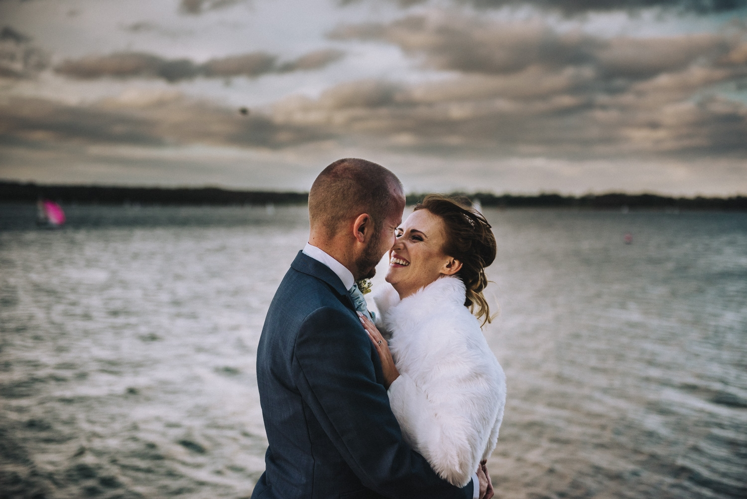 just married at rutland water nature reserve
