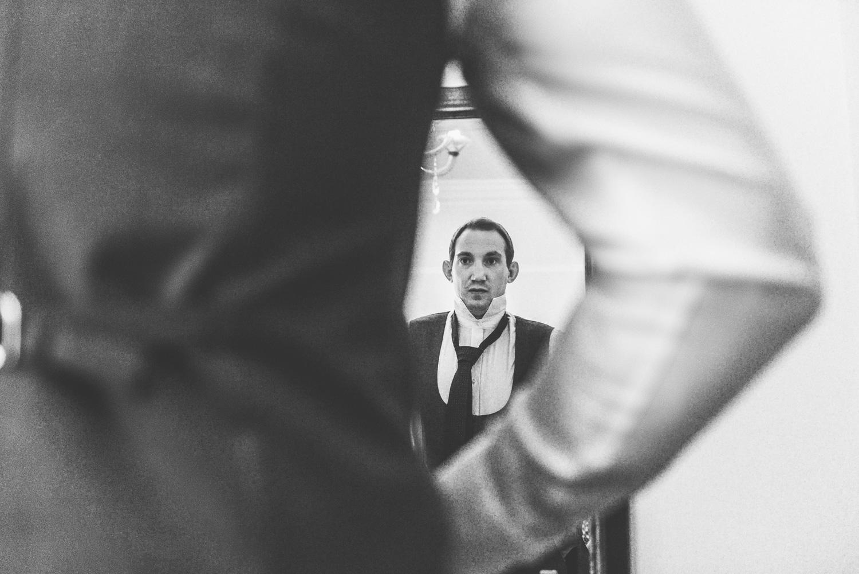 groom prep at Savoy hotel in london