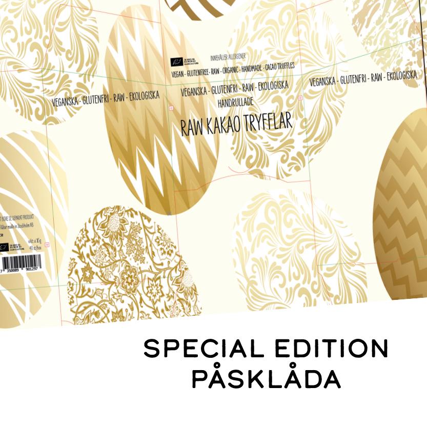 RAW VEGAN TRYFFEL - PÅSK LÅDA 40x15g LIMITED EDITION - ARTNR:1297