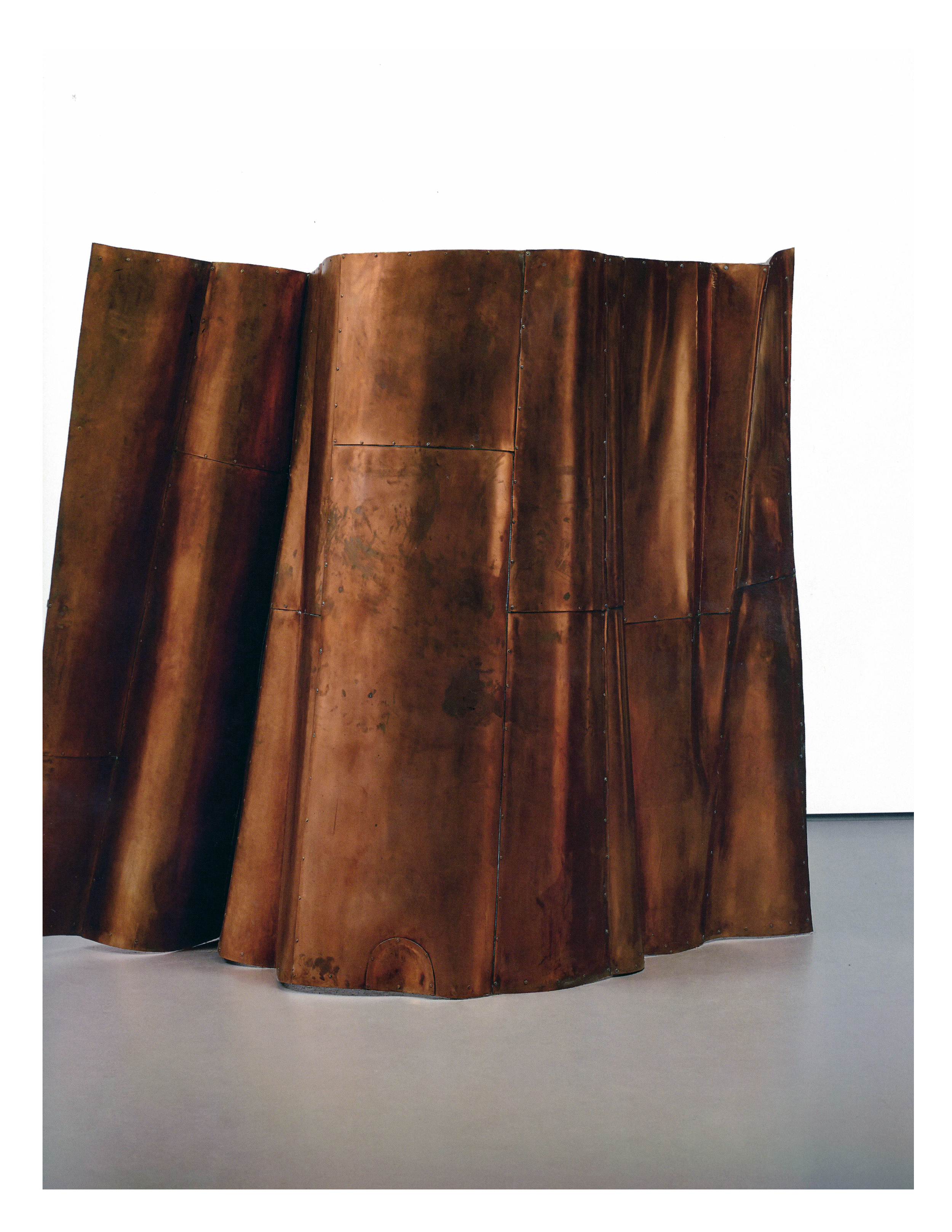Danh Vo,  We the People (detail), Element #D2 , 2011-2013  Copper  Private Collection   Image: Phillips Contemporary Art, London Evening Sale print catalog, June 29, 2015.