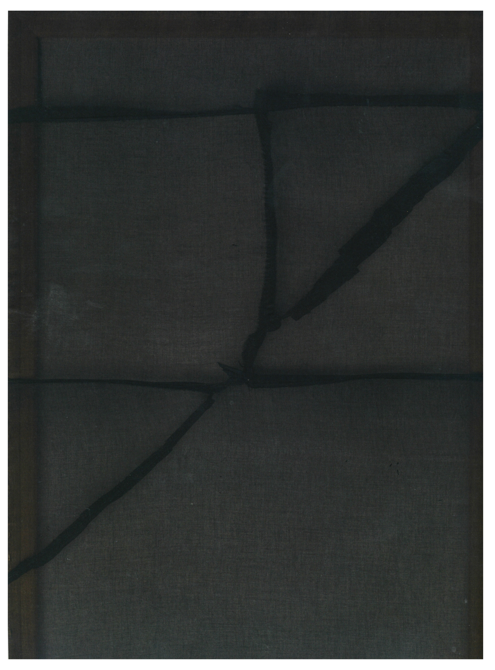 Sergej Jensen,  Untitled (Schwarz/Durchsichtig) , 2009    sewn fabric    Simon Lee Gallery, London    Image: Phillips Contemporary Art, London Evening Sale print catalog, June 29, 2015.