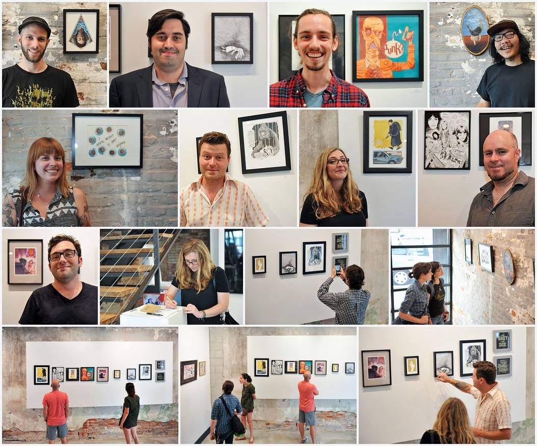 """Small Talk"" show opening at the LMNL Gallery. 7/2015"