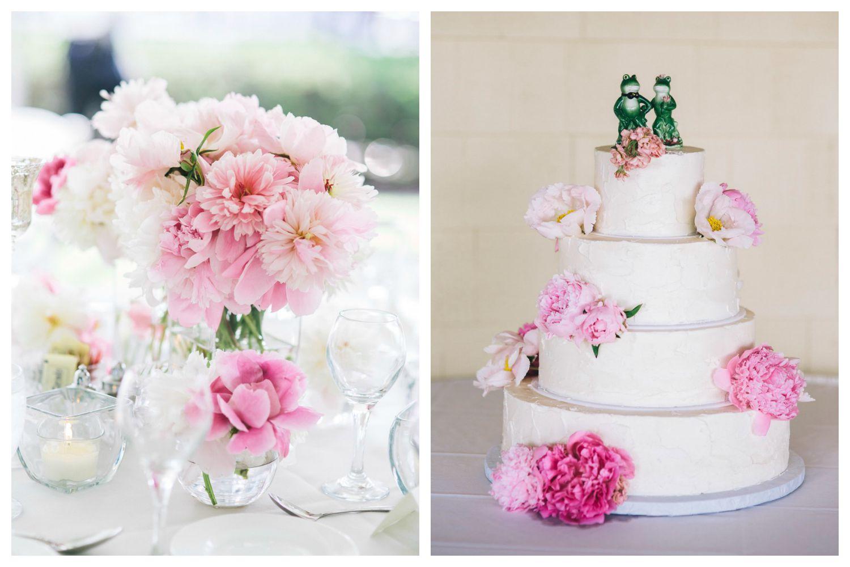 peony cake flowers