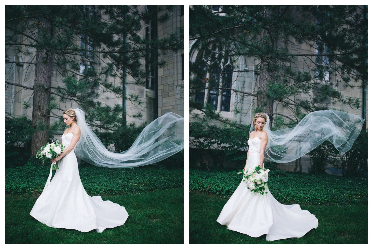 Wind whipped veil