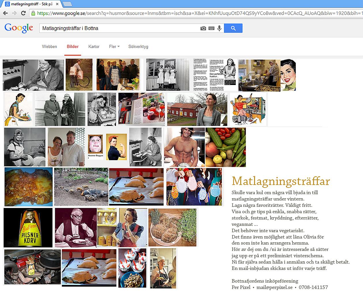 Affisch matlagningsträffar