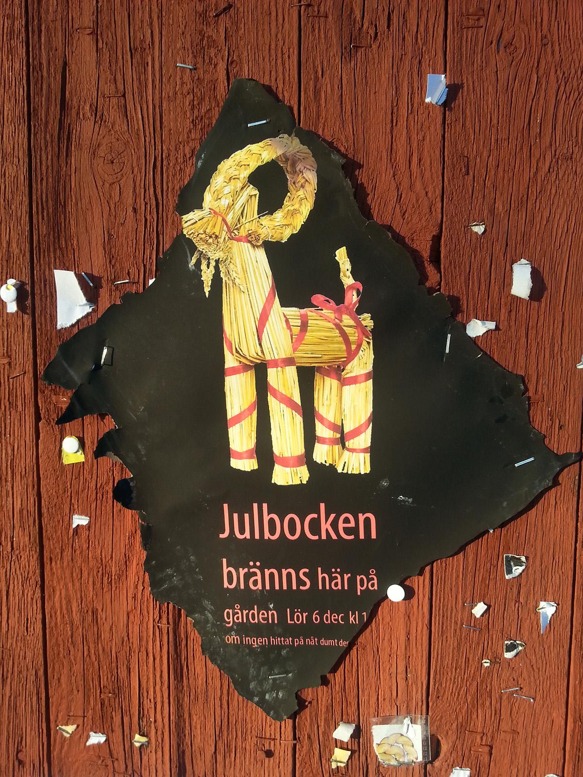 Affisch för Julbocksbränning