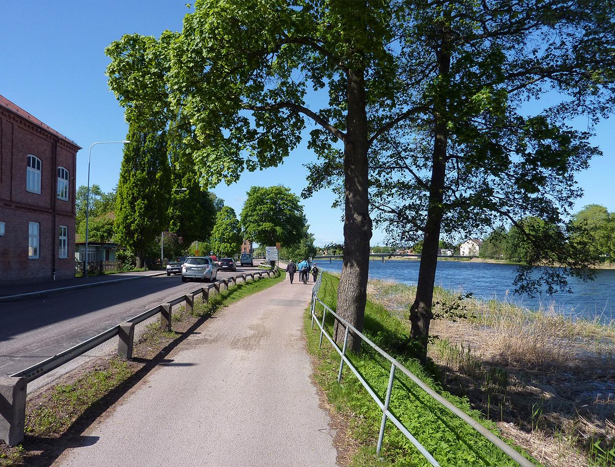 Strandpromenad i Karlstad - befintligt utseende