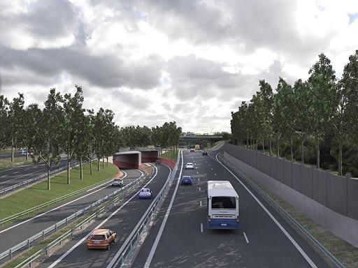 Ny infart mot tunnel under Göta Älv i Marieholm