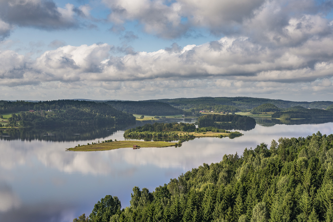 Sjön Fävren i Halland
