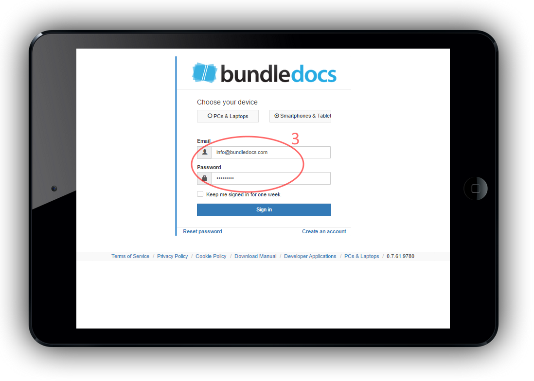 Simply provide your login detail to launch the new Bundledocs App