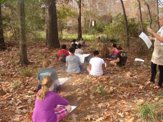 Our new classroom...a 400 acre wildlife preserve.Northlake Nature Center in Mandeville, Louisiana.