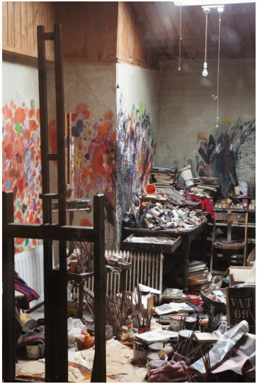 Here's a pic of Bacon's studio, or a replica of it, at least, located in Dublin. Photo:  Cedric Angeles