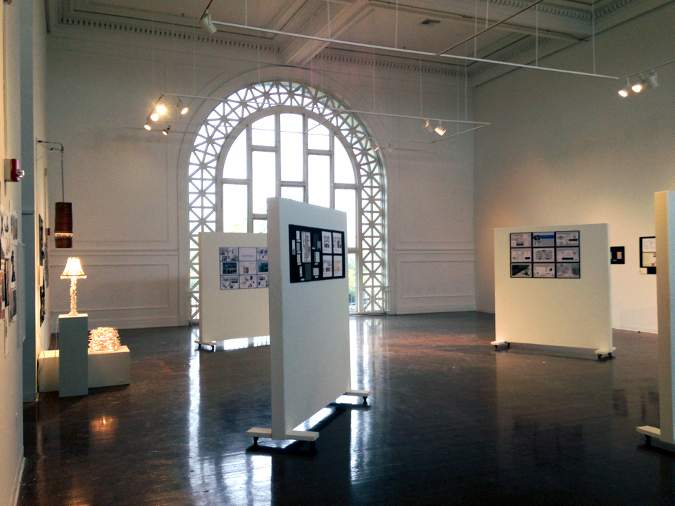 Here's the Isaac Delgado Fine Art Gallery during a student interior design show. Look at that window!