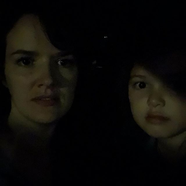 nerding out with my bestie in the parking lot lighting.