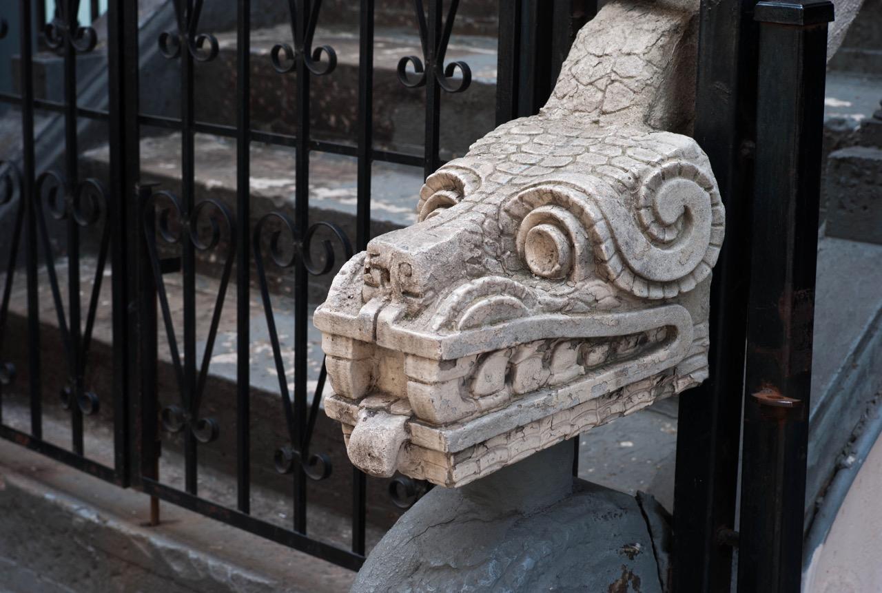 Aztec remnants in midtown.