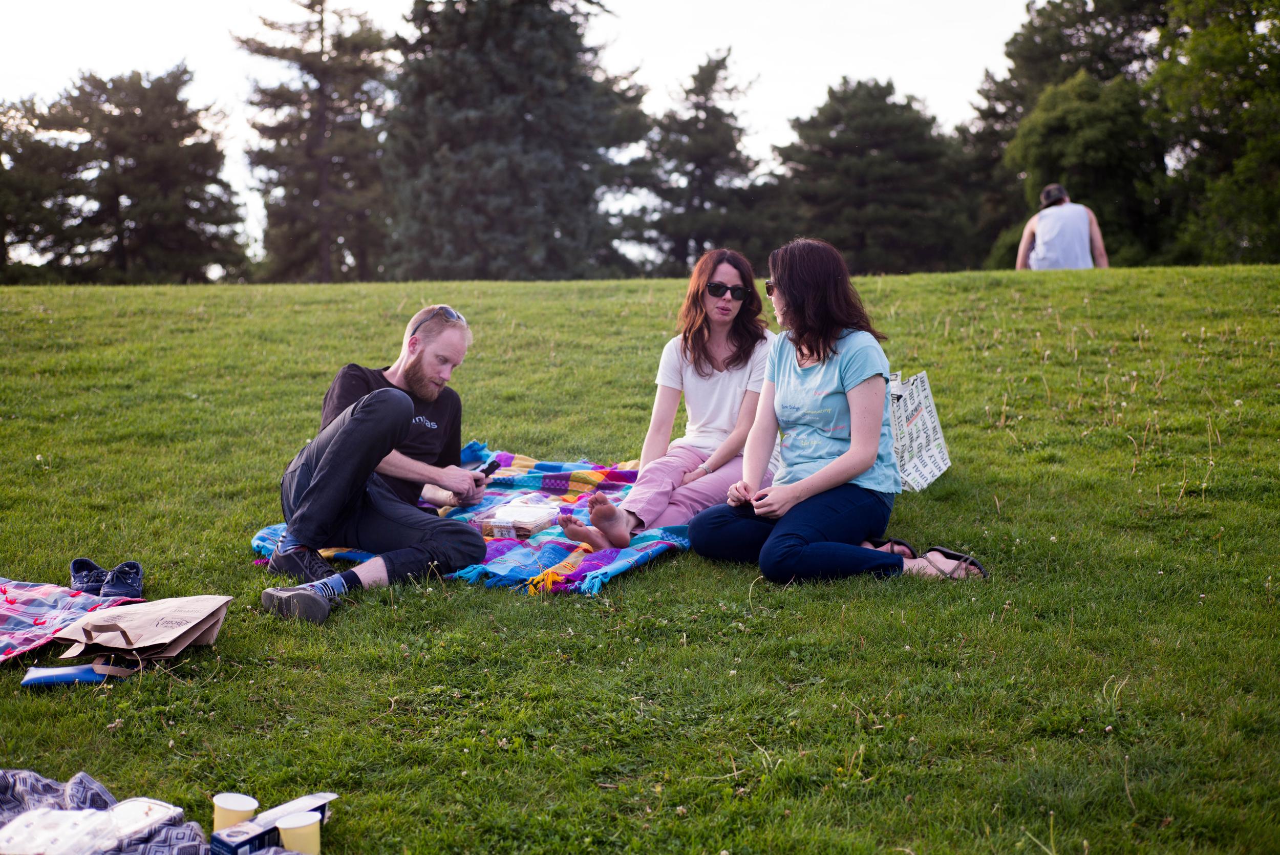 Dana, Sara and I ventured over the hill...