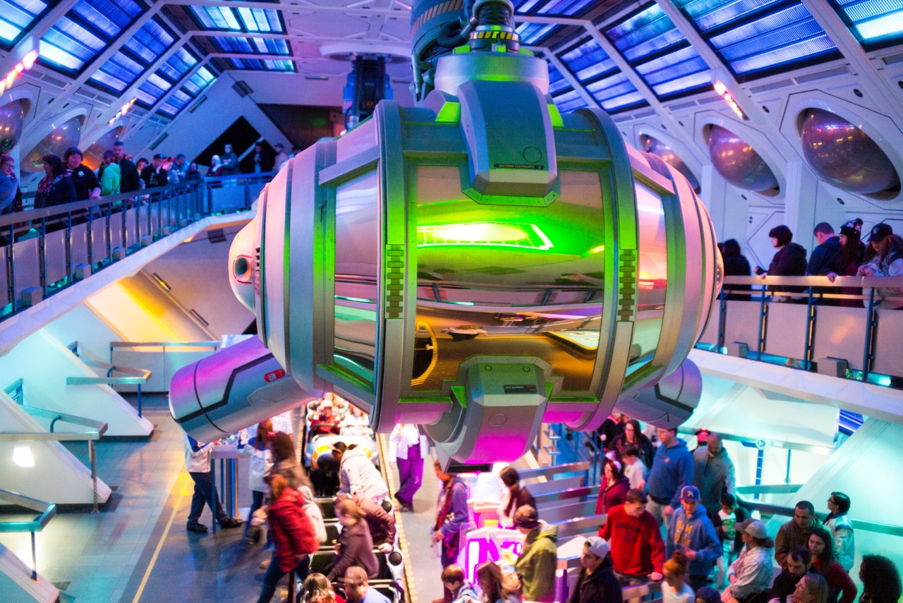 The ride was Star Wars themed, but the original traditional Space Mountain infrastructure remained. You just have to accept that this is some form of Corellian corvette now.