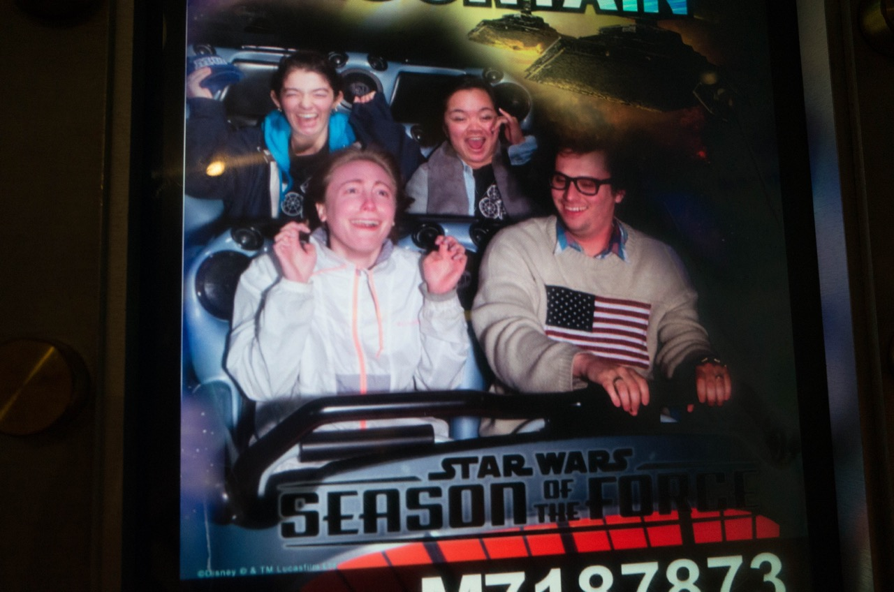 Becky loved it. I spent the days after Disneyland showing off ride photos of me, but Becky was the secret ride photo MVP