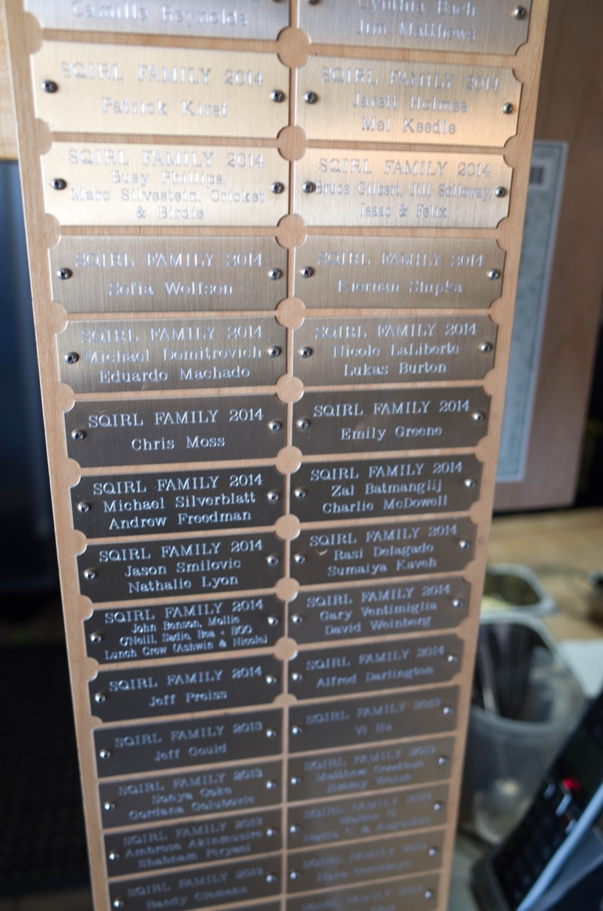 When did it start to win me over? When I got a load of the Eagle Scout list-style plaque of employees.