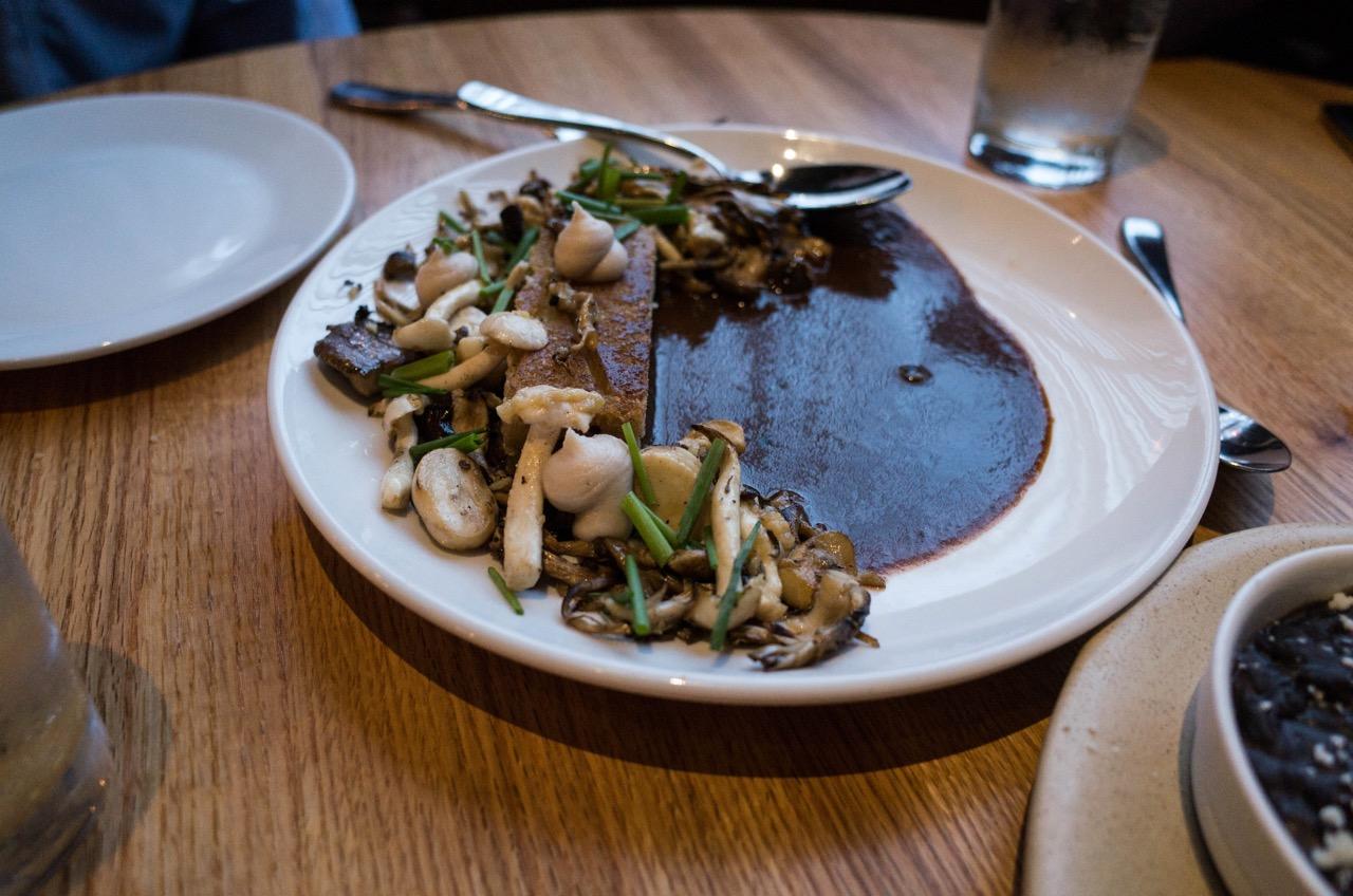 Carne Asada with mushroom pico de gallo. Very great.