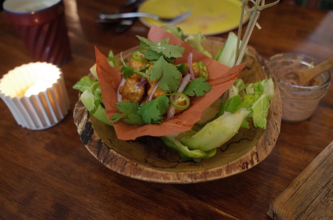 Kale crab rangoon