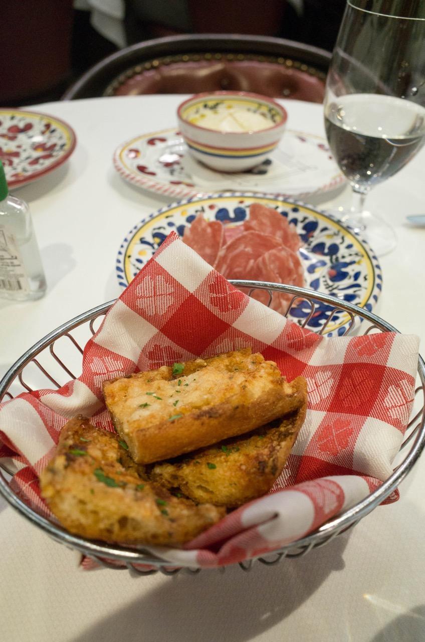Caesar salad prepared almost-tableside