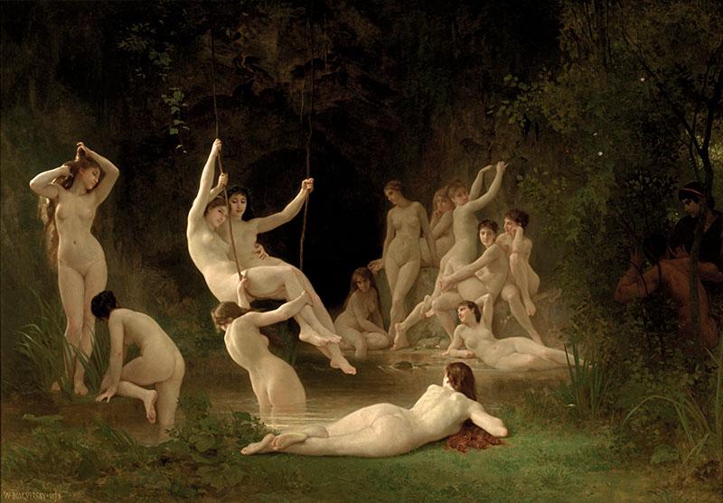 The Nymphaeum by Bouguereau