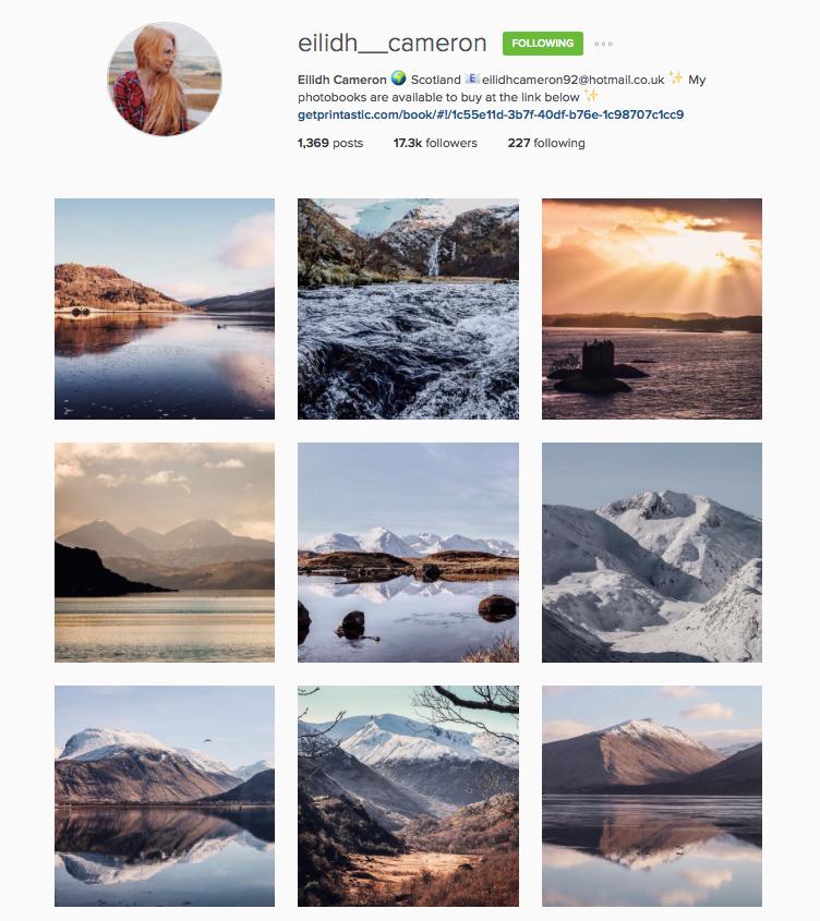 Scottish Instagrammers