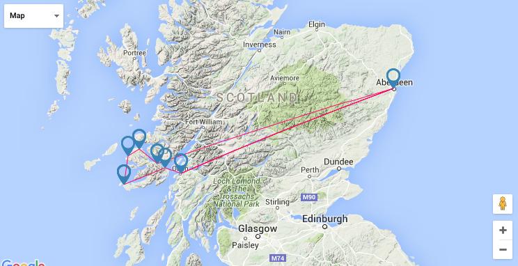 Route map Scotland