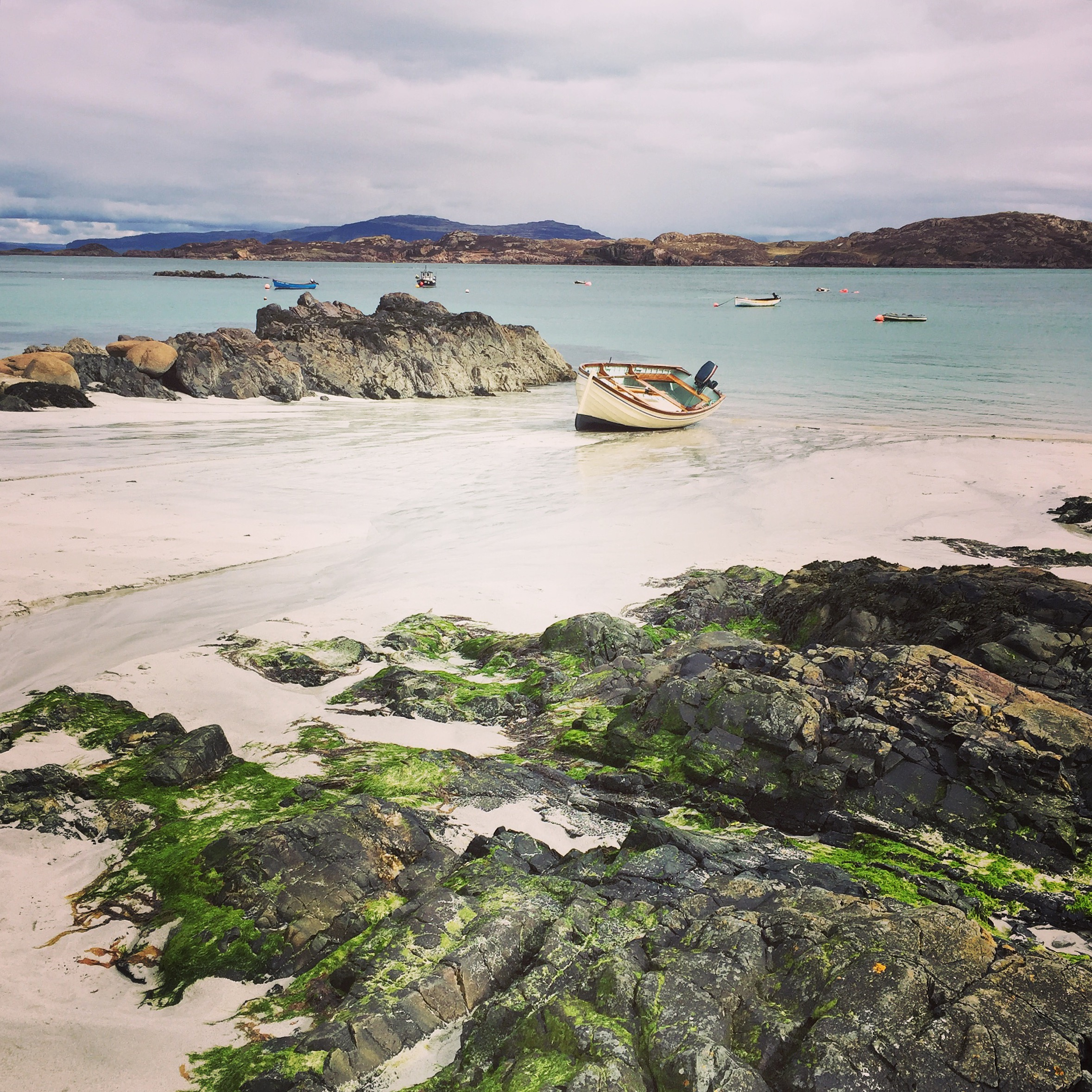 Iona, Scotland, iPhone 6  Here the rocks in the foreground provide another layer of visual interest, creating more depth in the scene.