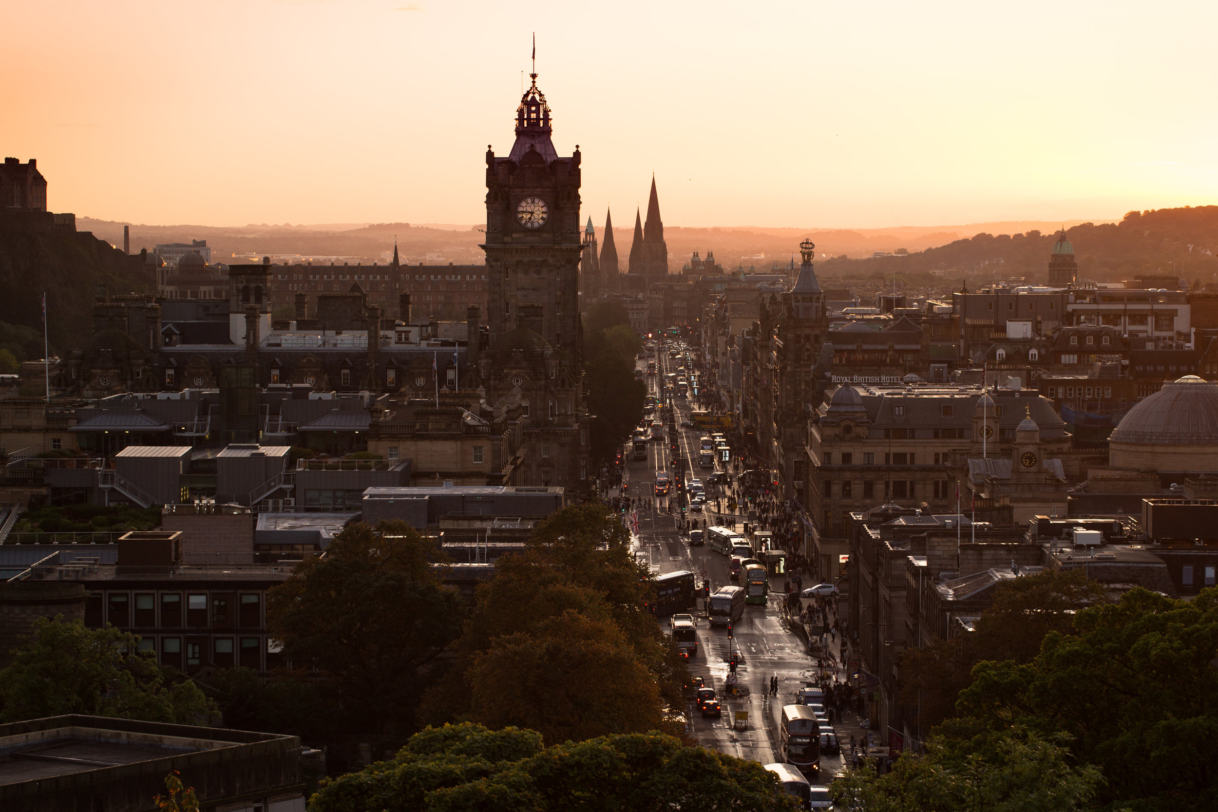 Edinburgh Sunset, Scotland