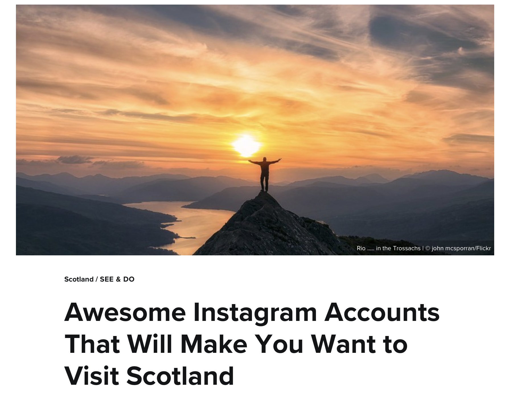 Instagram accounts that will make you want to visit scotland
