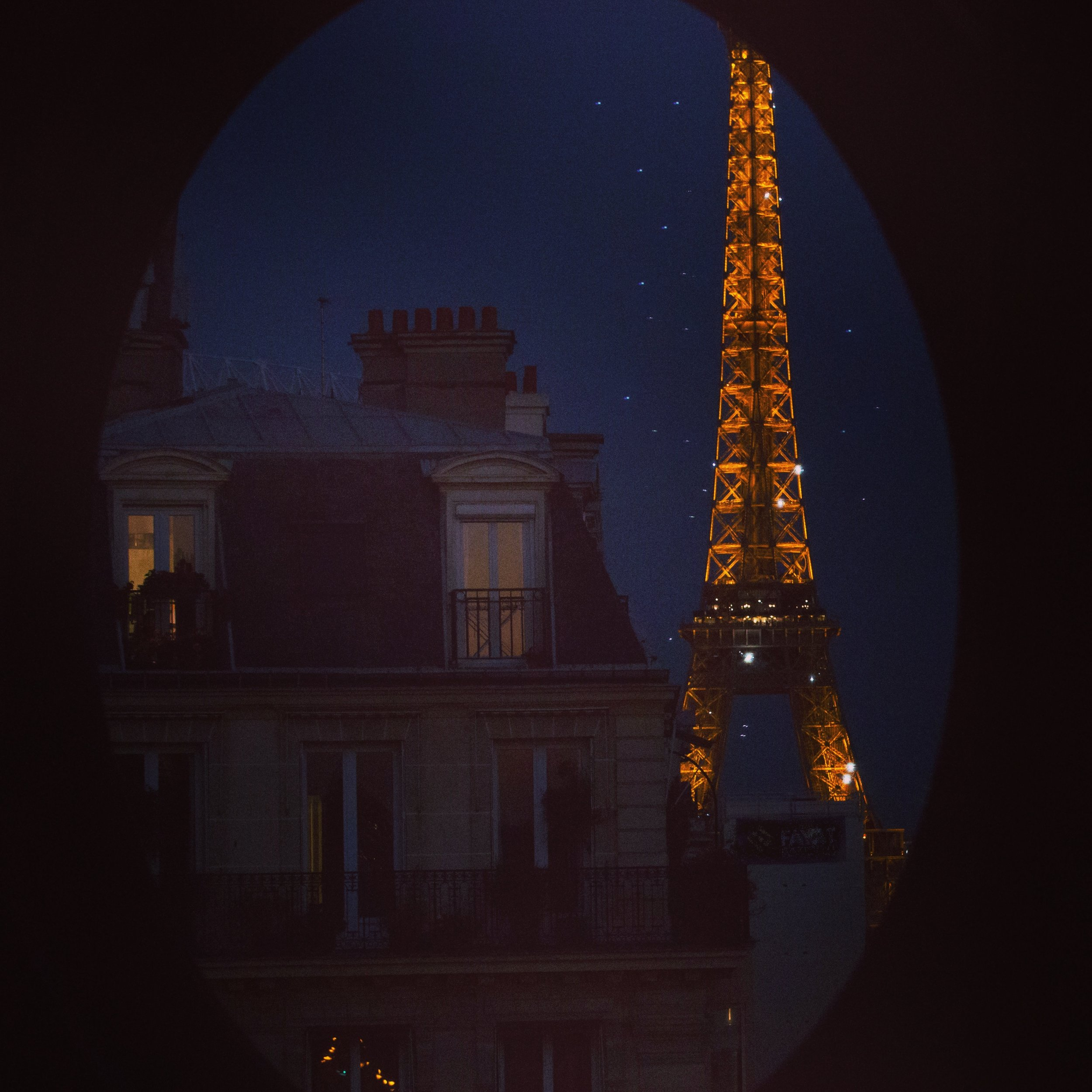 Eiffel Tower by night, Paris