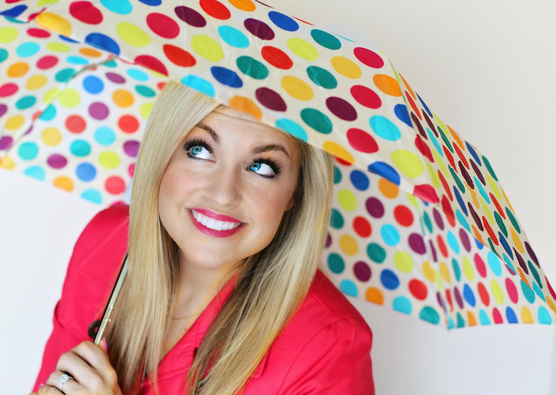 rainbow dots umbrella