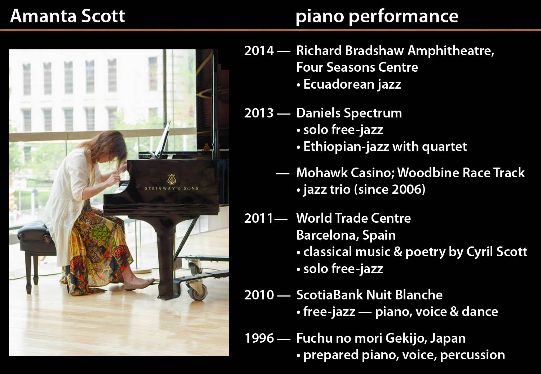 Amanta Scott piano performances