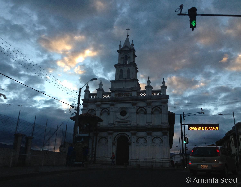 sunset in Cuenca