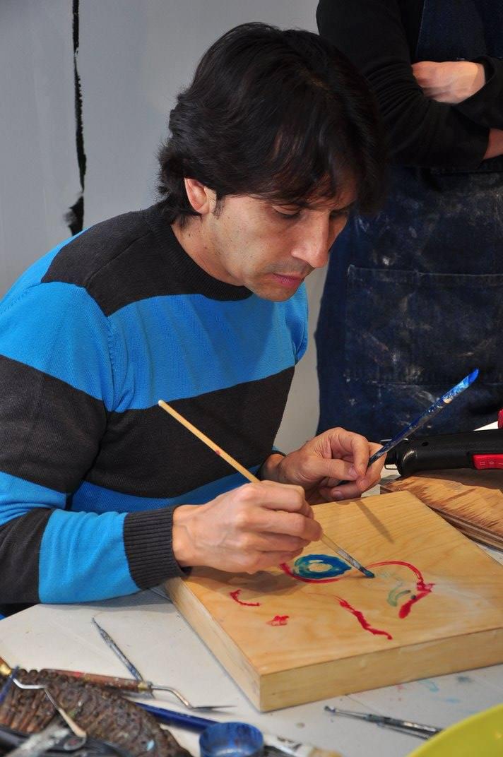 Cesar explores encaustic painting