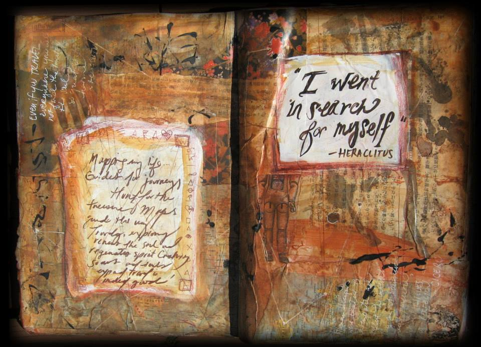 In Search, Art Journal Page