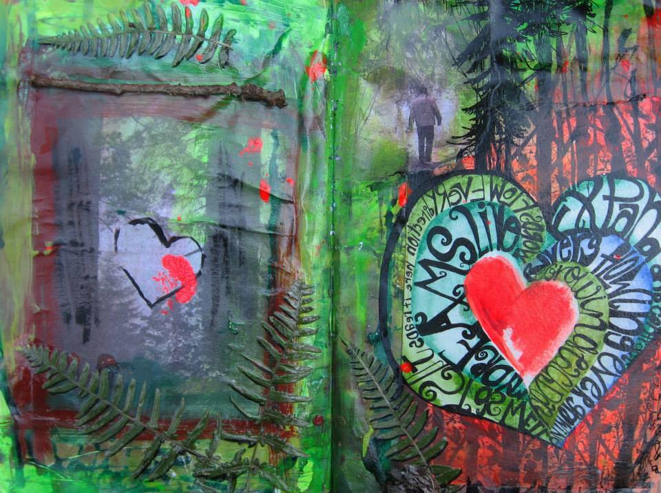 Heart of the Forest, Art Journal Page