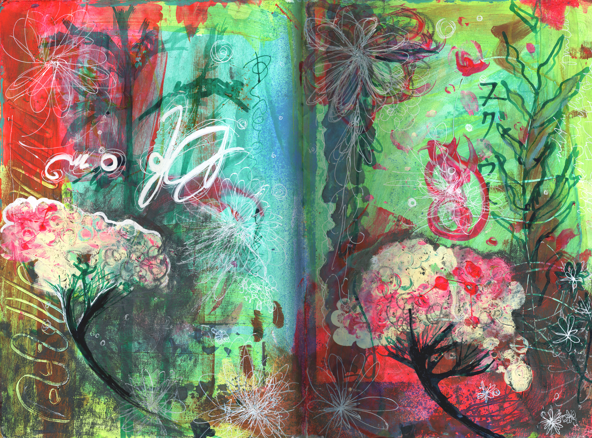 Bloom, Art Journal Page