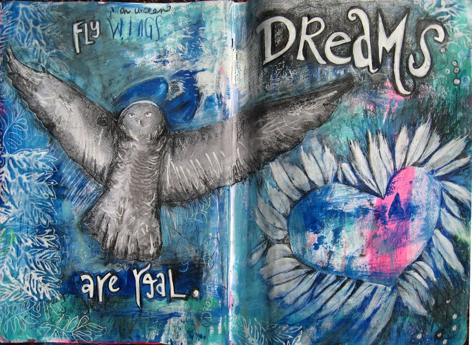 Dreams are Real, Art Journal Page