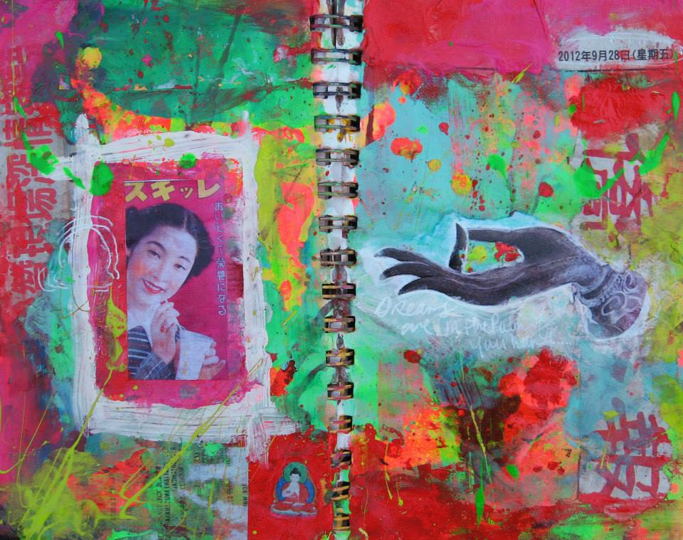 Pop Buddha, Art Journal Page