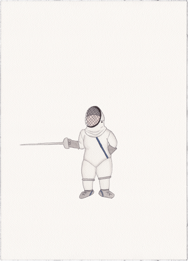Fencer, 2014 (Drawing)