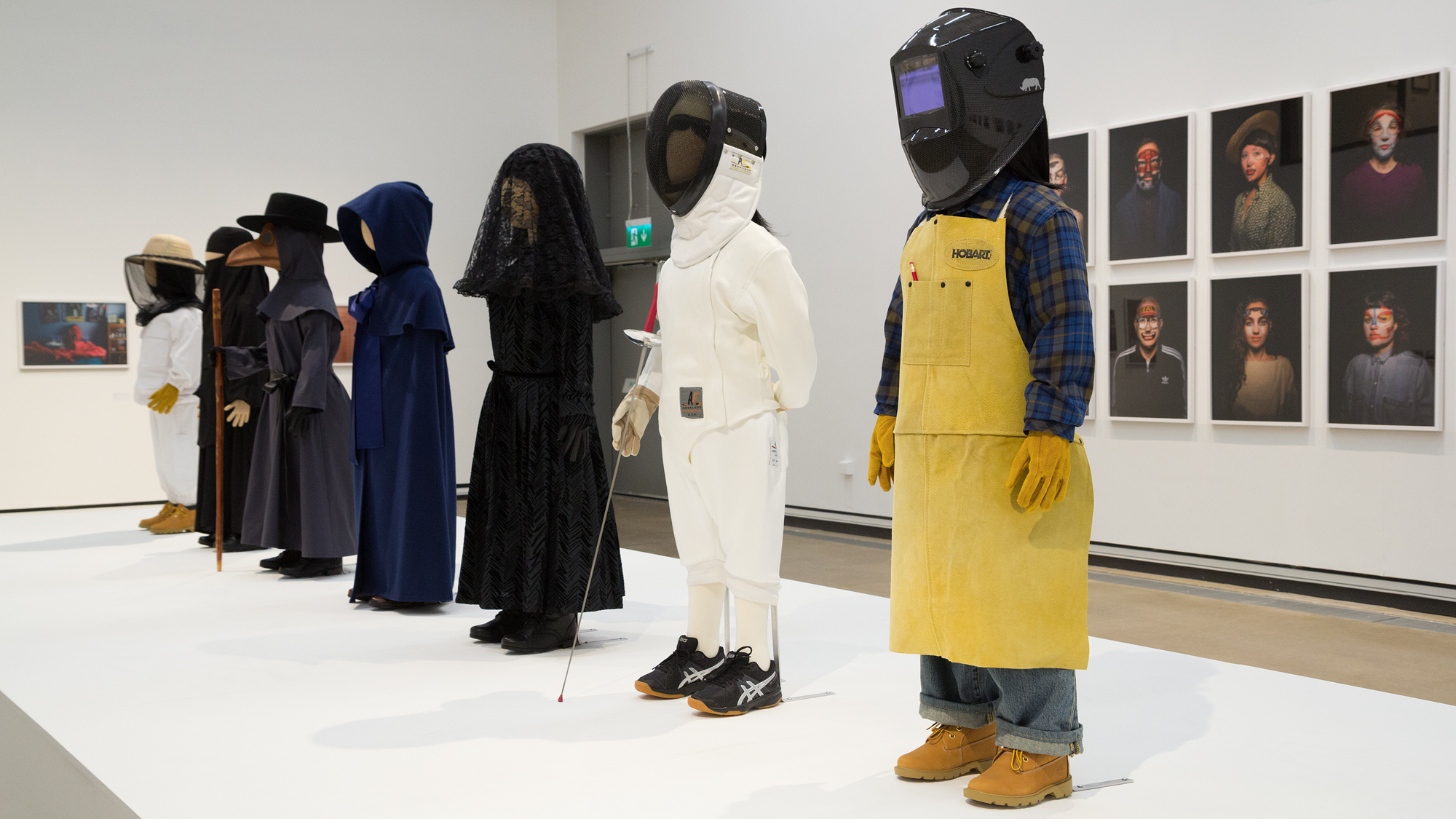Installation view of Uniforms (2015)