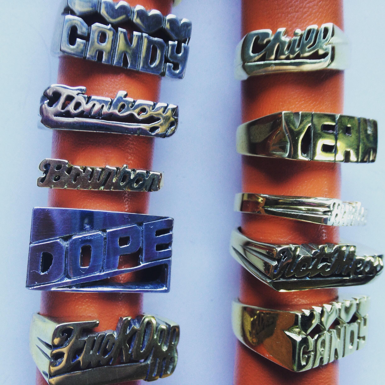 1970's-inspired Word Rings