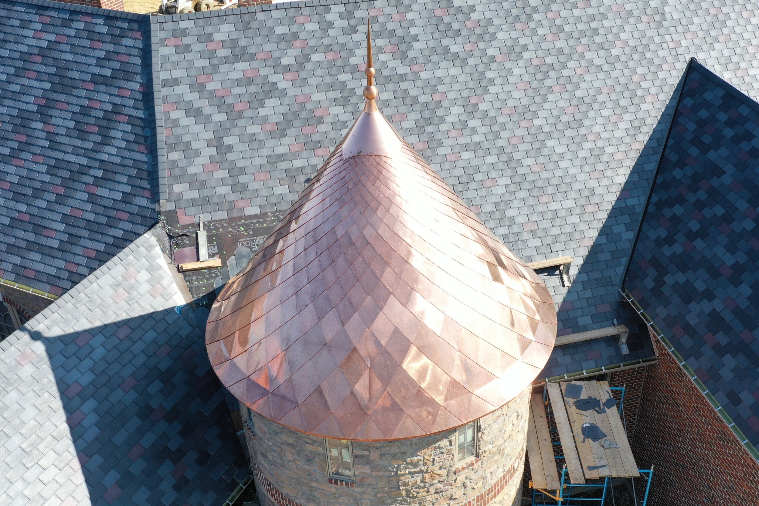 Copper, when installed properly, will last for centuries.