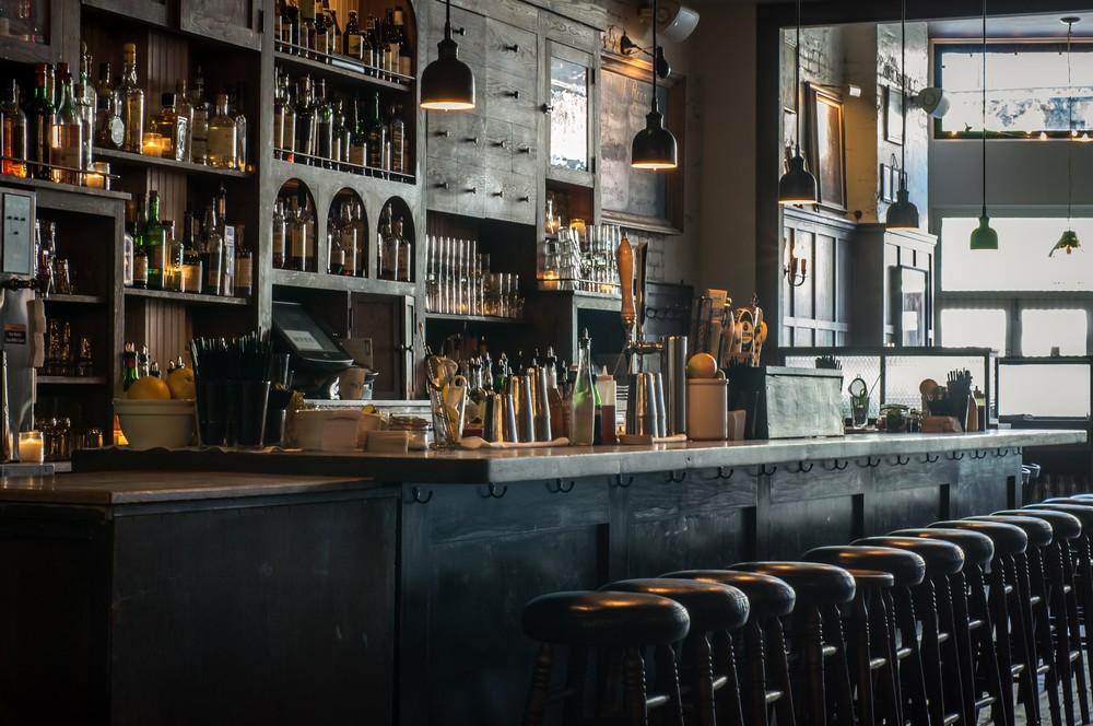The beautiful bar at The Wren